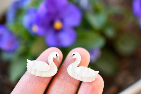 Odette Swan Studs All Colours