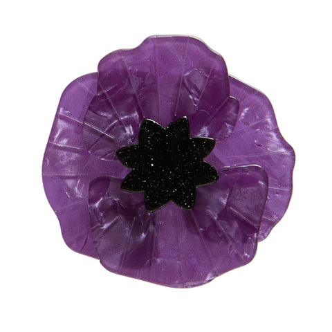 Poppy Field Purple Brooch NEW