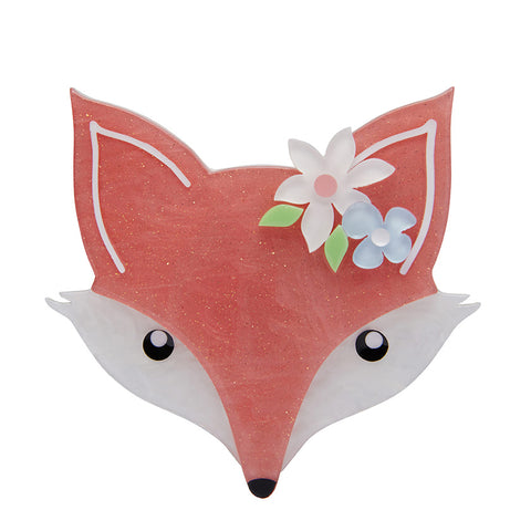 Flora Fox Face Brooch