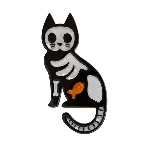 Tabby Tombstone Brooch NEW