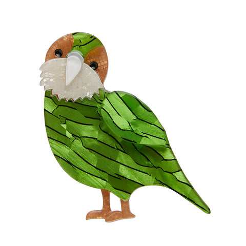 Kakapo On Show Brooch