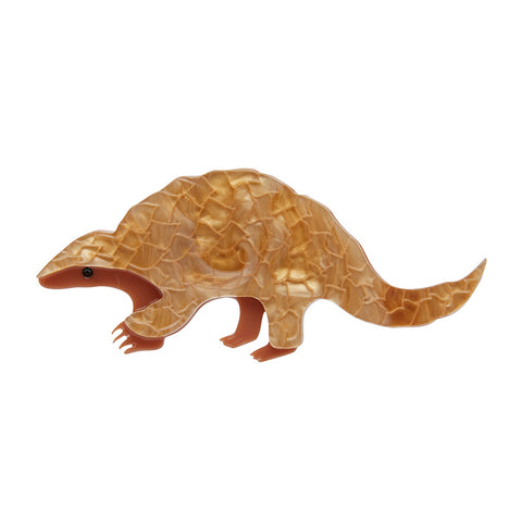 Roly Poly Pangolin Brooch