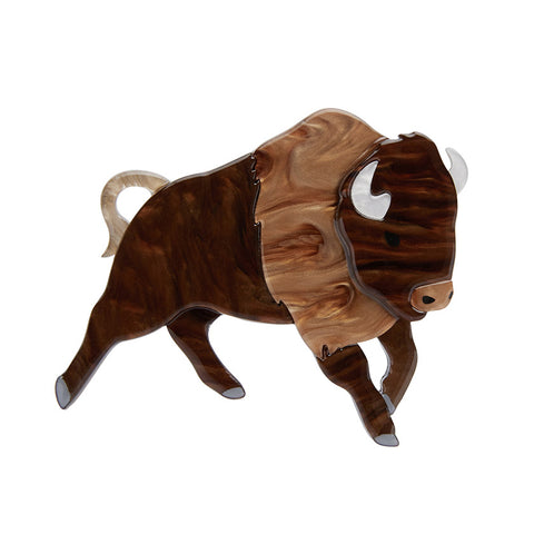 Buffalo Bull Brooch