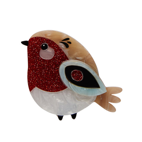 Red Robbin Brooch