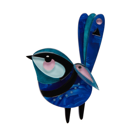 The Splendid Fairy Wren Brooch