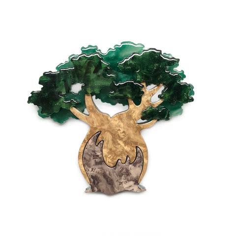 Bulbous Boabab Tree Brooch