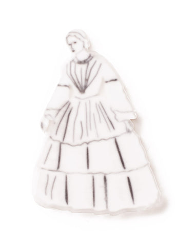 Halloween -Lady in White Brooch