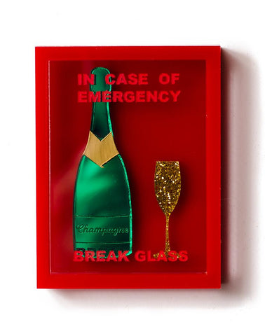 Emergency Champagne Box Brooch