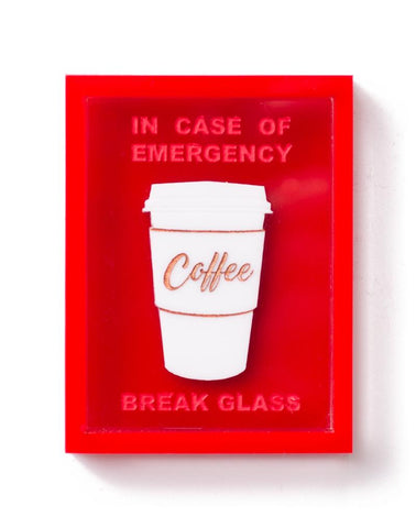 Emergency Coffee Brooch