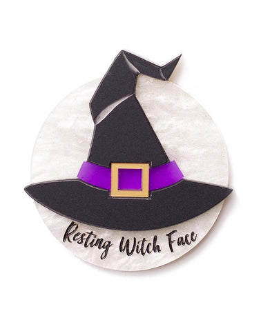 Resting Witch Face Brooch
