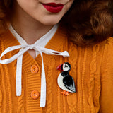 Piccolo Puffin Brooch
