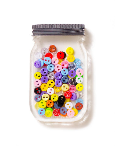 Button Jar Brooch