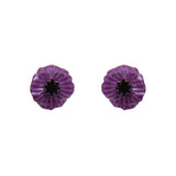 Poppy Field Purple Earrings NEW