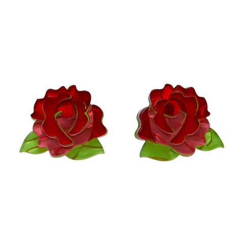 Juliet' Blooms Rose Earrings