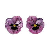 On Sleeping Eyelids Pansy Earrings