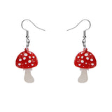 Twinning Toadstool Drop Earrings