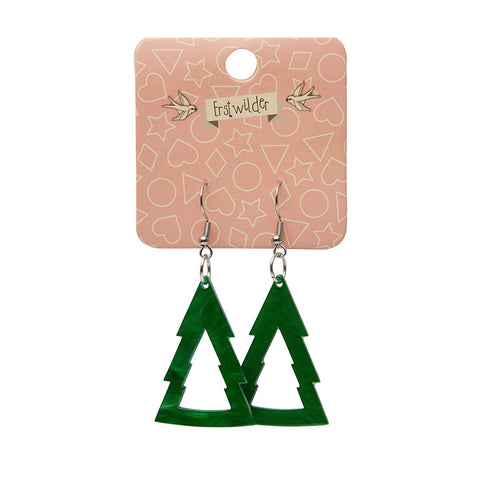 Essential Drop Earrings Tree Green