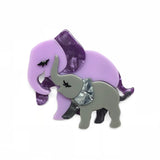 Mother Ella Elephants Brooch