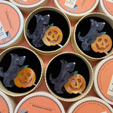 Patch the Pumpkin Pup Brooch