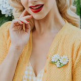Country Chamomile Brooch