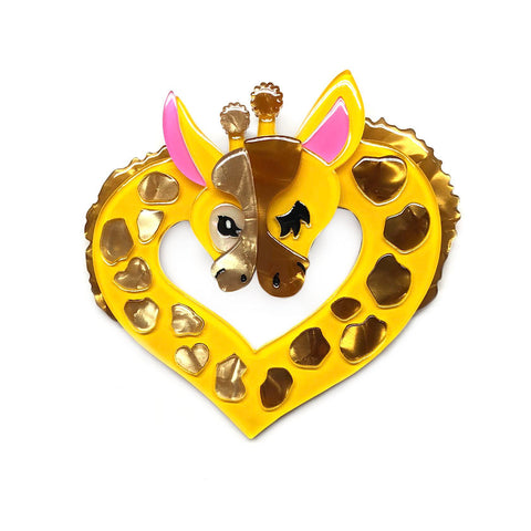Heart of Africa Giraffes Brooch