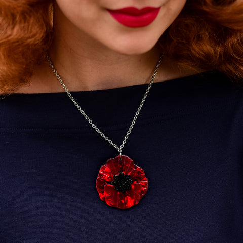 Poppy Field Pendant Necklace