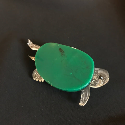 Crystal Menagerie Turtle Brooch