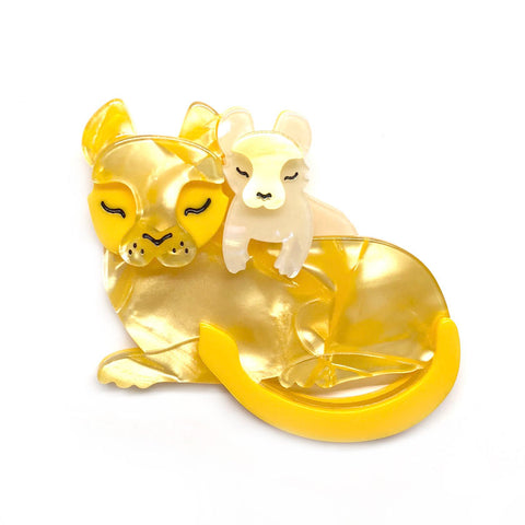 Mother Cub Love Lion Brooch