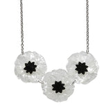 Poppy Field White Necklace NEW