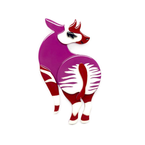Okapi of Course Brooch
