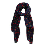 Budding Romance Large Neck Scarf