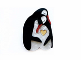 Penguins in Love Brooch