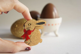 Chocolate Rabbit Brooch