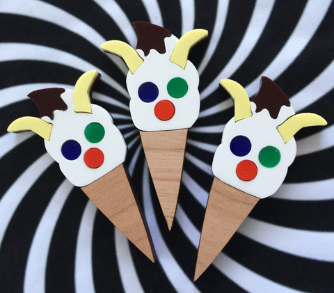 The Face Ice Cream Brooch