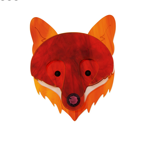 Fox Face Brooch