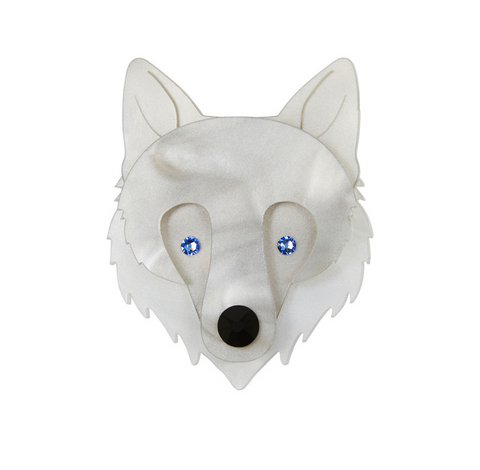 Wolf Face Brooch