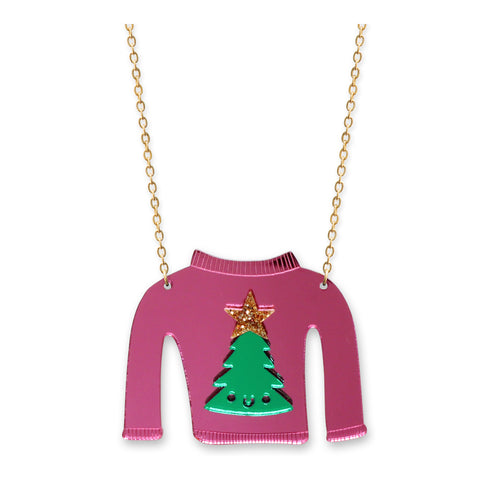 Christmas Tree Jumper Necklace