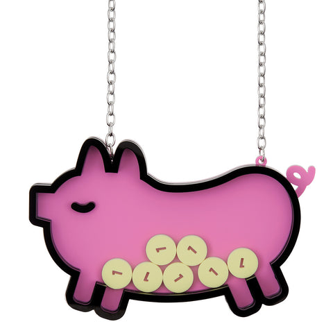 Pop Piggy Bank Necklace