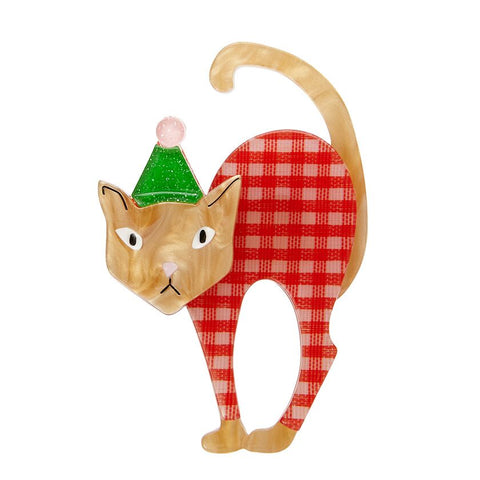 Noel The Festive Feline Brooch