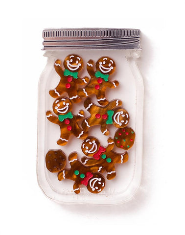 Gingerbread Jar Brooch