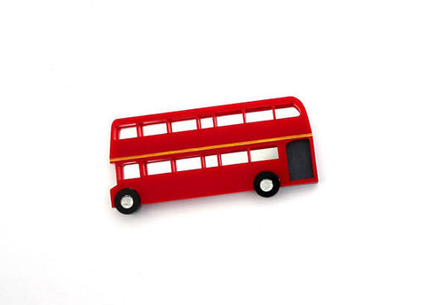 Double Decker Bus Brooch