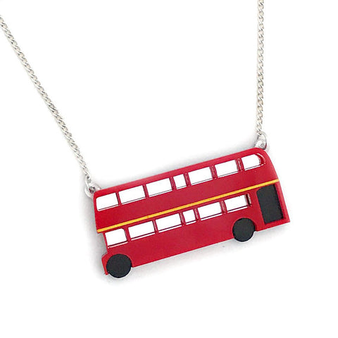 Double Decker Bus Necklace