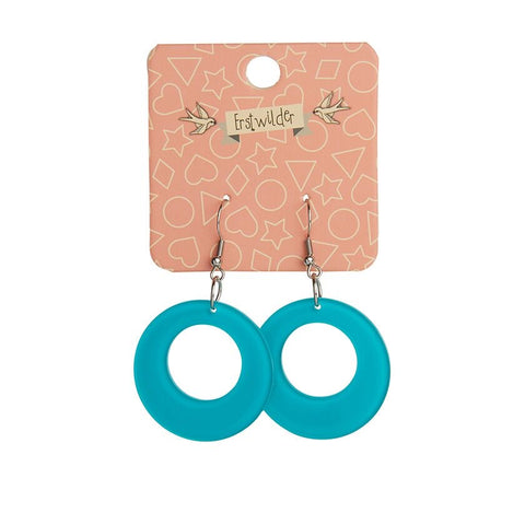 Essentials Drop Earrings Bubble Teal Circle