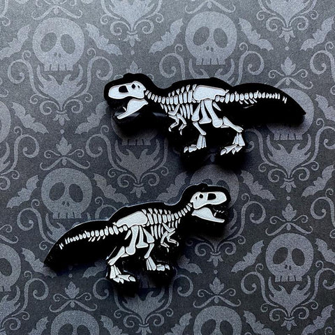 Dinosaur Skeleton Earrings