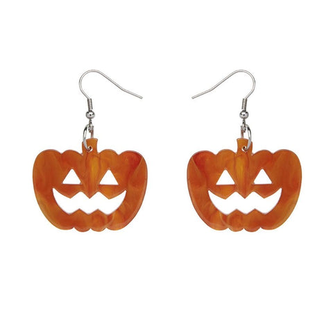 Essential Drop Earrings Pumpkin Ripple Orange