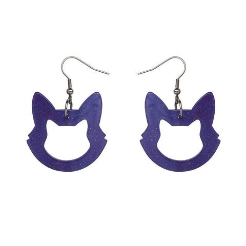 Essential Drop Earrings Cat Ripple Blue