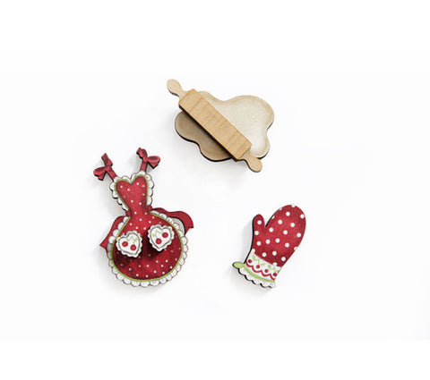 Pack of Pastry Brooches