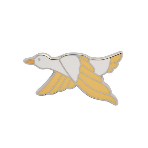 Dancing Duck Lemon Enamel Pin