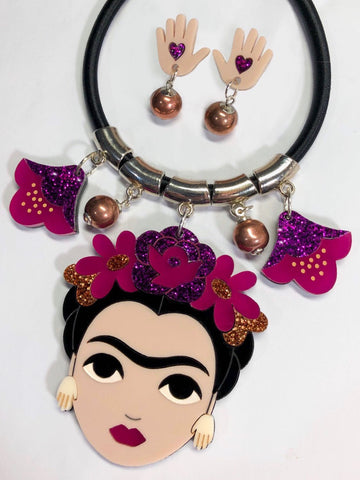 Winter Frida Statement Necklace Set
