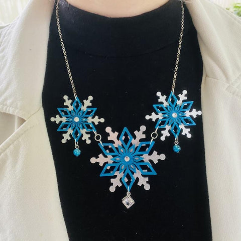 Snowflake Statement Necklace